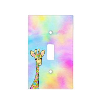 Giraffe in the Rainbow Light Switch Cover