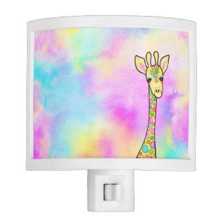 Giraffe in the Rainbow Nite Lite