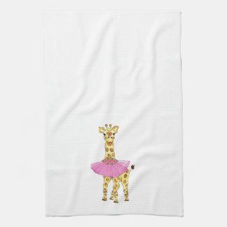 Giraffe in Tutu Kitchen Towel