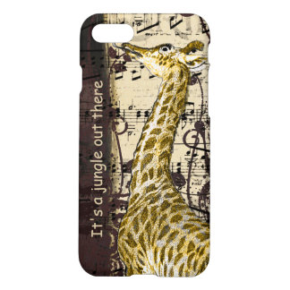 Giraffe It's A Jungle Out There iPhone Case