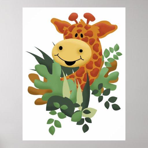 Giraffe Jungle Safari Art Print
