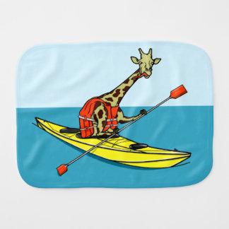 Giraffe Kayaking Burp Cloth