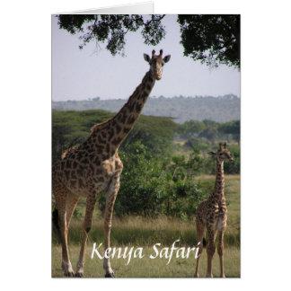 Giraffe, Kenya Safari Card