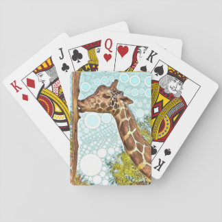 Giraffe Kiss Playing Cards
