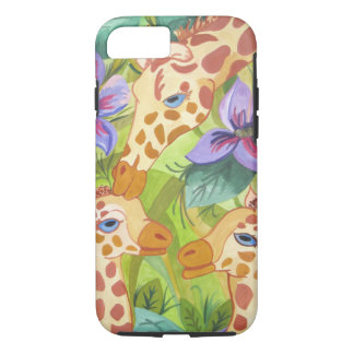 Giraffe Kisses, mother and babies Case-Mate iPhone Case