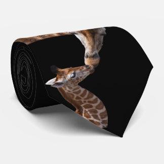 Giraffe Kisses Tie Double Sided
