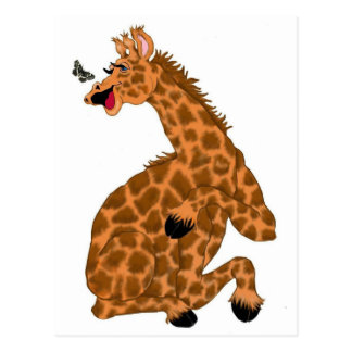 Giraffe Laugh Postcard