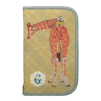 Giraffe Little Bird Monogram Planner Rickshaw