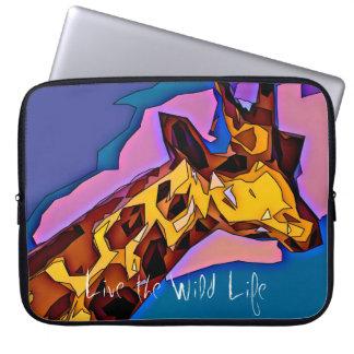 Giraffe - Live the Wild Life / Laptop Sleeve