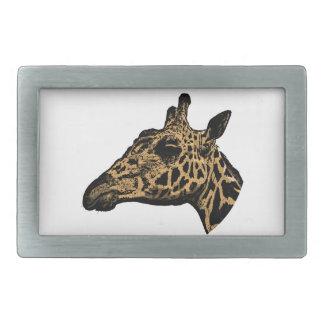 Giraffe Logo Rectangular Belt Buckle