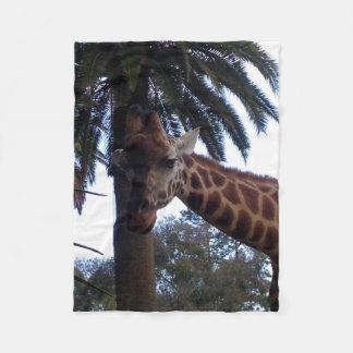 Giraffe Lookout, Small Fleece Blanket