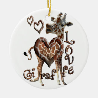 GIRAFFE LOVE CHRISTMAS ORNAMENT