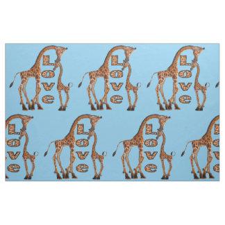 Giraffe Love fabric