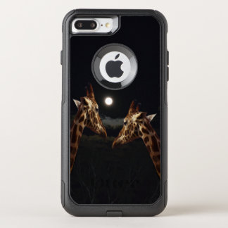 Giraffe Love In The Moonlight, OtterBox Commuter iPhone 8 Plus/7 Plus Case