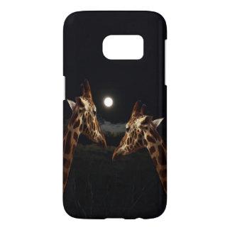 Giraffe Love In The Moonlight, Samsung Galaxy S7 Case