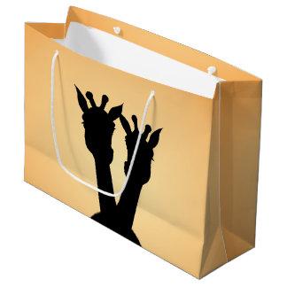 Giraffe Love Large Gift Bag