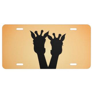Giraffe Love License Plate