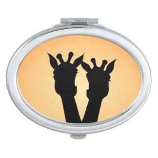 Giraffe Love Makeup Mirror