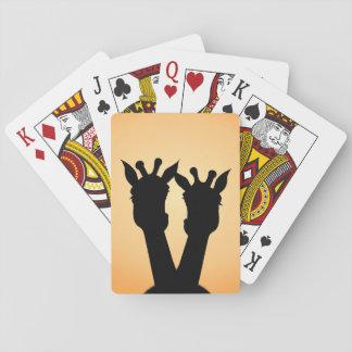 Giraffe Love Playing Cards