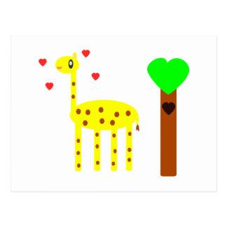 Giraffe Love Postcard