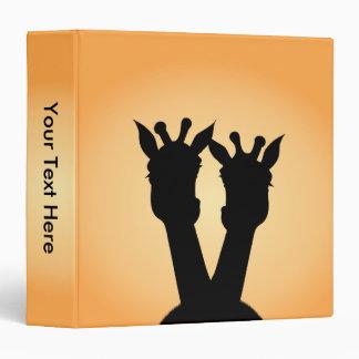 Giraffe Love Vinyl Binders