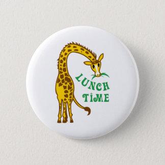 GIRAFFE LUNCH TIME 2 INCH ROUND BUTTON