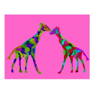 Giraffe Luv Postcards