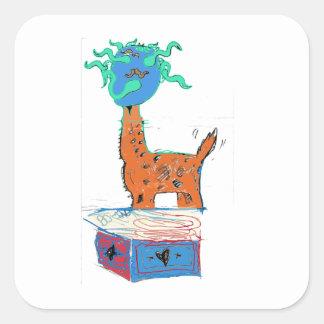 Giraffe Magic Square Sticker