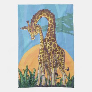 Giraffe Mama and Baby Hand Towels