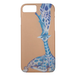 Giraffe Mama and Baby iPhone 8/7 Case