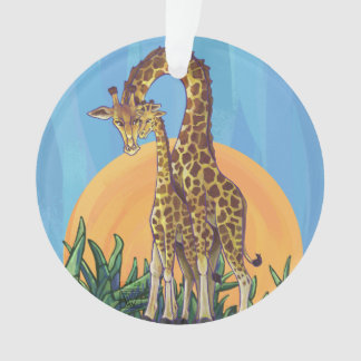 Giraffe Mama and Baby Ornament