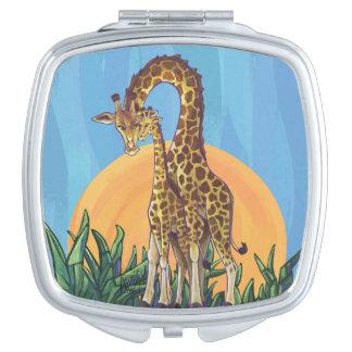 Giraffe Mama and Baby Vanity Mirrors