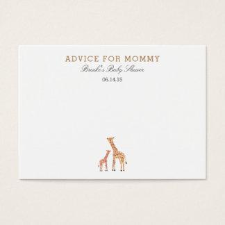 Giraffe Mommy Advice Cards