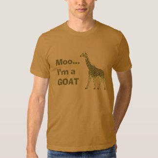 Giraffe moo I'm a goat T Shirts