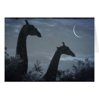 Giraffe Moon Card