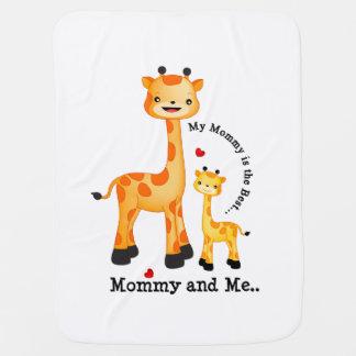 Giraffe Mum and Calf Stroller Blanket