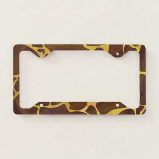 Giraffe Natural Print License Plate Frame