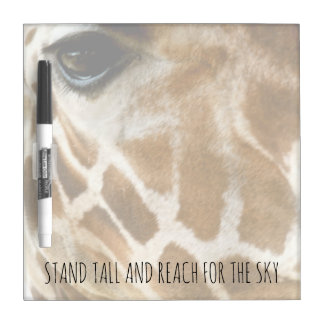 Giraffe Nature Photo | Inspirational Quotes Dry-Erase Boards