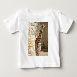 Giraffe near cliff baby T-Shirt
