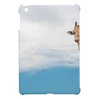 Giraffe neck and head against the clear blue sky iPad mini case