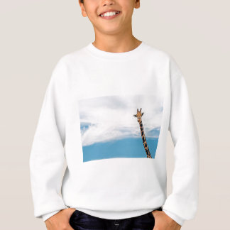 Giraffe neck and head against the clear blue sky sweatshirt