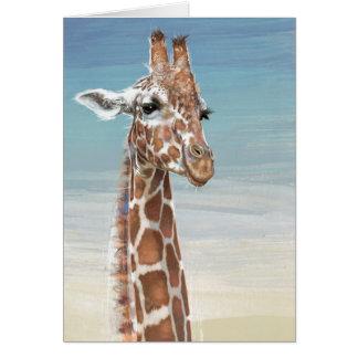 Giraffe Note Card