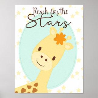 Giraffe nursery Poster
