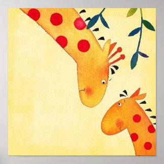 giraffe nursery wall hanging poster
