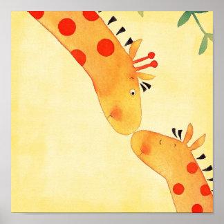 giraffe nursery wall hanging print