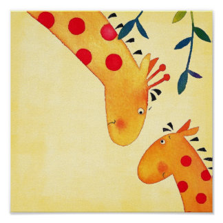giraffe nursery wall hanging posters