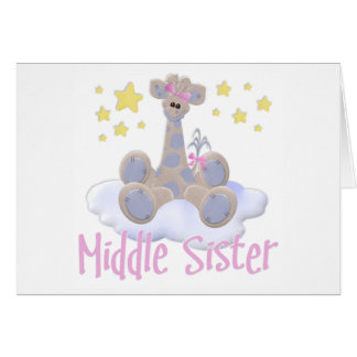 Giraffe on a Cloud Middle Sister Note Card