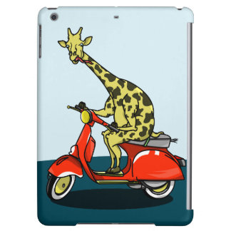 giraffe on a vintage scooter iPad air cover