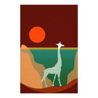 Giraffe Original Design Stationery