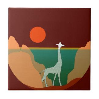 Giraffe Original Design Tile
